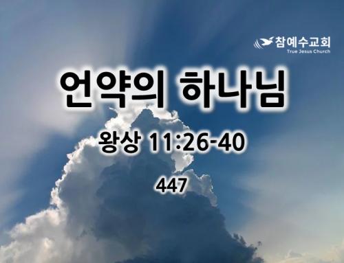 언약의 하나님(왕상 11:26-40)