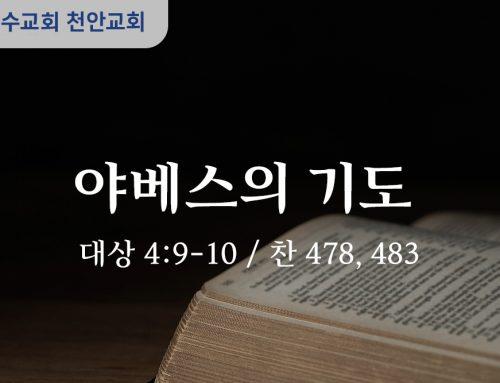 야베스의 기도 (대상 4:9-10)